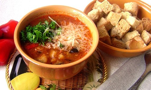 Овощной суп с баклажанами в мультиварке