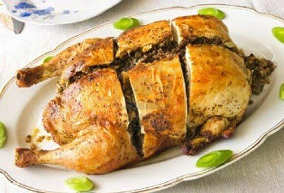 Курица фаршированная в скороварке