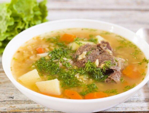 Гороховый суп на свиных ребрышках в скороварке