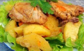 Курица с картошкой в скороварке