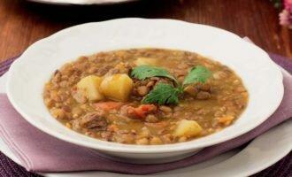 Суп с чечевицей с бараниной в скороварке
